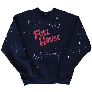 Custom Vintage Full House Paint Splatter Crewneck